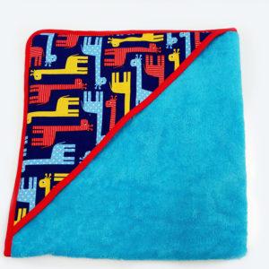 toalla con capucha jirafas
