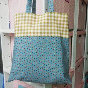 bolso tote bag tulipanes colores y vichy